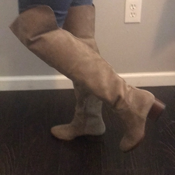 be6cef3db33 bp Shoes - Brass plum Nordstrom Suede Taupe thigh high boots